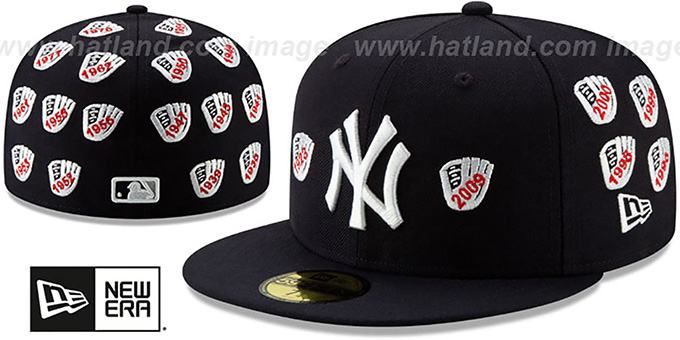 Yankees 'SPIKE LEE' GLOVES Navy Fitted Hat by New Era