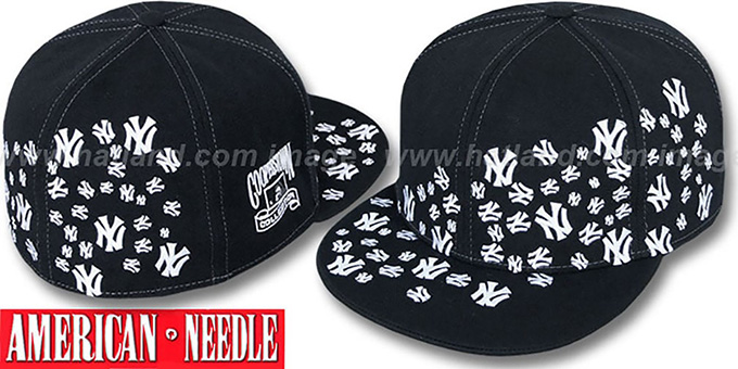 dc5fcee012d Yankees  STARSTRUCK  Black Fitted Hat by American Needle