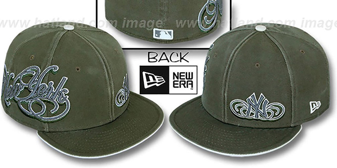 New York Yankees SULTAN Olive Fitted Hat by New Era 6b2e608c343