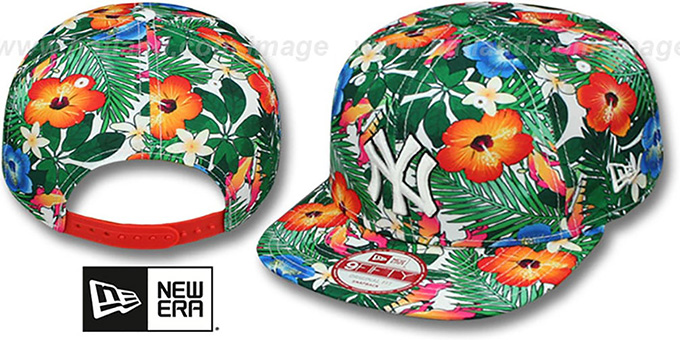 Yankees 'SUNSHINE BLOOM SNAPBACK' Hat by New Era : pictured without stickers that these products are shipped with