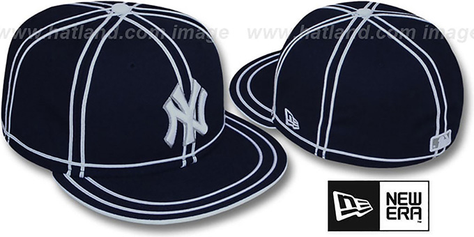 Yankees 'TACHS' Navy-White Fitted Hat by New Era : pictured without stickers that these products are shipped with