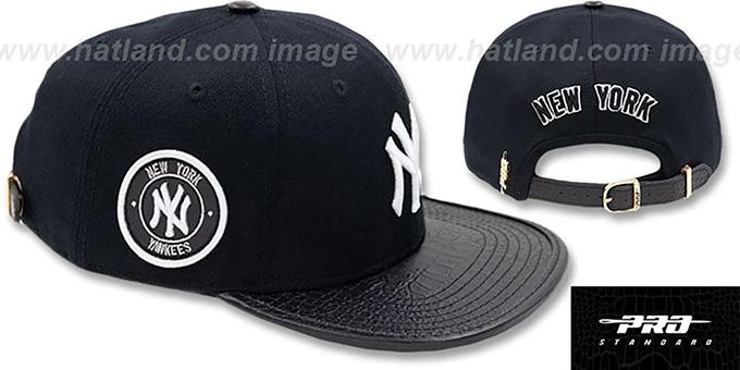 9d302c63550 Yankees  TEAM-BASIC STRAPBACK  Black Hat by Pro Standard