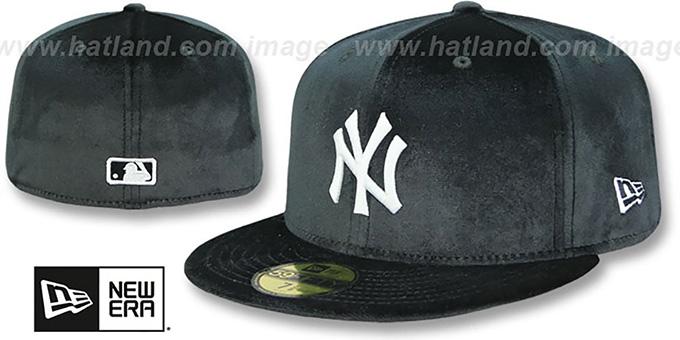 Yankees  TEAM-BASIC VELOUR  Black Fitted Hat by New Era 4f85cf65e4c8