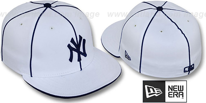 Piping' White-navy New Era Fitted By Hat 'team Yankees
