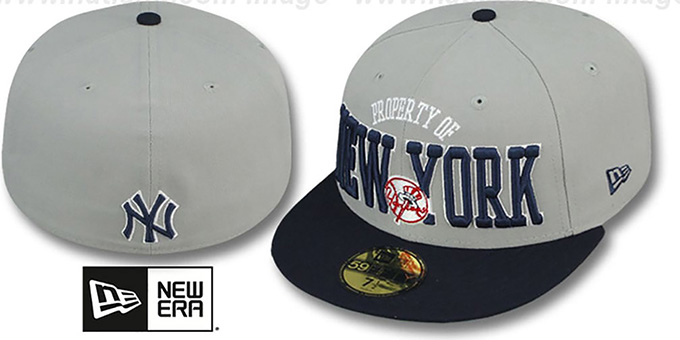 Yankees 'TEAM-PRIDE' Grey-Navy Fitted Hat by New Era : pictured without stickers that these products are shipped with