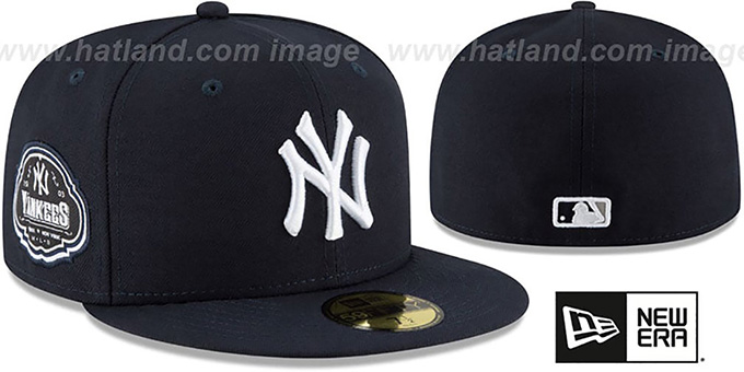 Yankees 'TEAM-SUPERB' Navy Fitted Hat by New Era : pictured without stickers that these products are shipped with