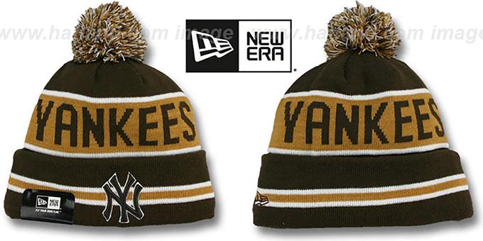 dcf868935a2 Yankees  THE-COACH  Brown-Wheat Knit Beanie Hat by New Era