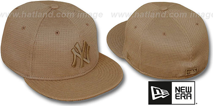 Yankees 'THERMAL WHEATOUT' Fitted Hat by New Era : pictured without stickers that these products are shipped with