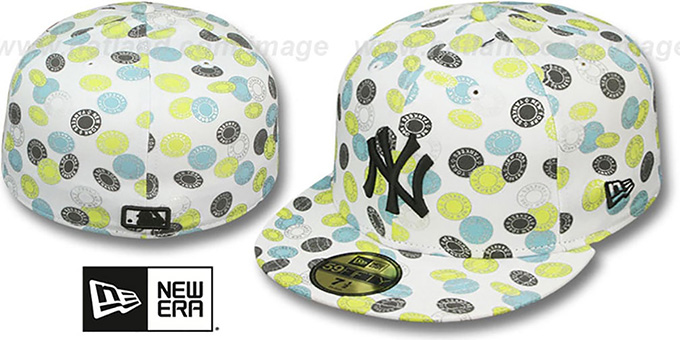 Yankees 'TOKENS' White-Pastel Fitted Hat by New Era : pictured without stickers that these products are shipped with