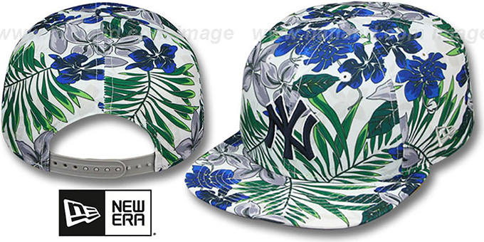 Yankees 'TROPTRIP BLOOM SNAPBACK' Hat by New Era : pictured without stickers that these products are shipped with