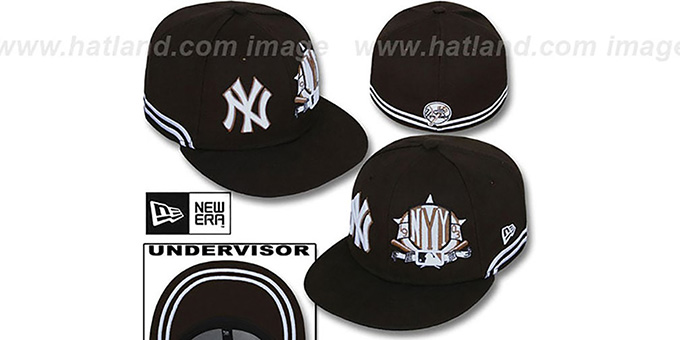 Yankees 'TWO-BIT' Brown-White Fitted Hat by New Era : pictured without stickers that these products are shipped with