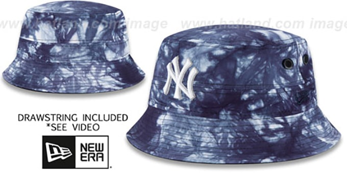 Yankees 'TYE-DYE ZONE' Bucket Hat by New Era : pictured without stickers that these products are shipped with
