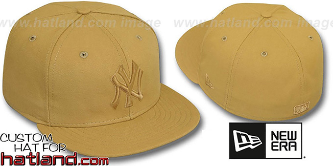 Yankees 'WHEATOUT' Fitted Hat by New Era : pictured without stickers that these products are shipped with