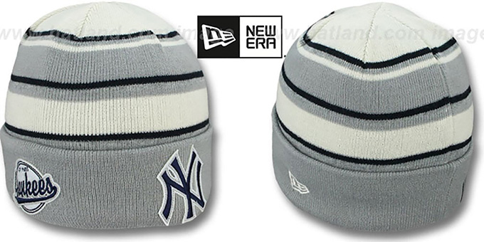 Yankees 'WINTER TRADITION' Knit Beanie Hat by New Era : pictured without stickers that these products are shipped with