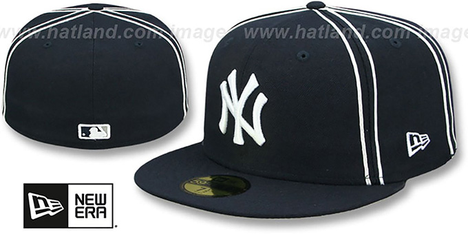 Yankees 'Y2K SOUTACHE' Navy Fitted Hat by New Era : pictured without stickers that these products are shipped with