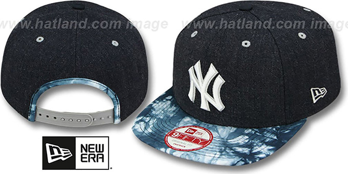 Yankees 'ZONE-VIZE SNAPBACK' Navy Hat by New Era : pictured without stickers that these products are shipped with