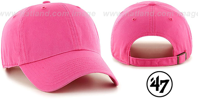 47 'BLANK CLASSIC STRAPBACK' Bright Pink Adjustable Hat