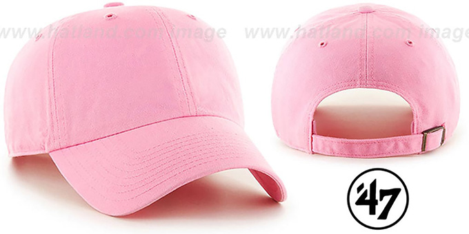 47 'BLANK CLASSIC STRAPBACK' Light Pink Adjustable Hat