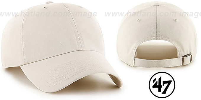 47 'BLANK CLASSIC STRAPBACK' Stone Adjustable Hat