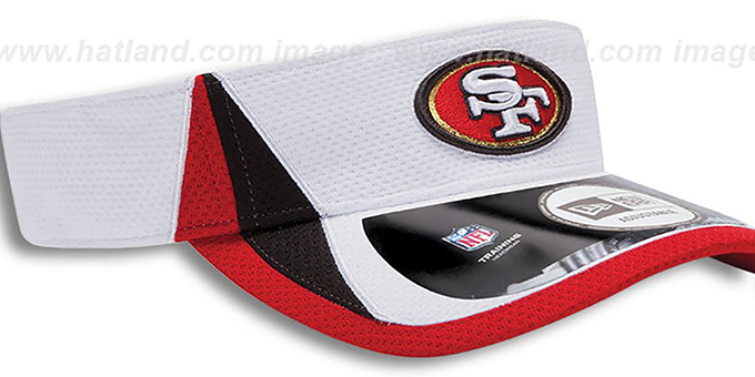 49ers '2013 NFL TRAINING' White Visor by New Era