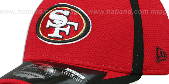 49ers '2014 NFL TRAINING FLEX' Red Hat by New Era