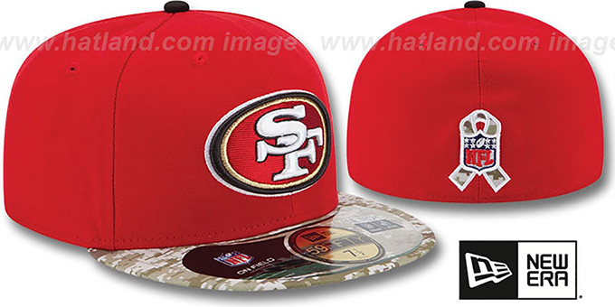 49ers '2014 SALUTE-TO-SERVICE' Red-Desert Fitted Hat by New Era
