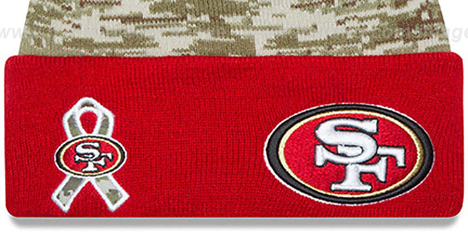 49ers '2015 SALUTE-TO-SERVICE' Knit Beanie Hat by New Era