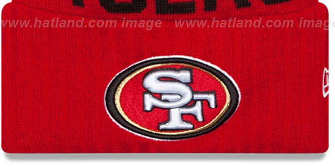 49ers '2015 STADIUM' Red-Black Knit Beanie Hat by New Era