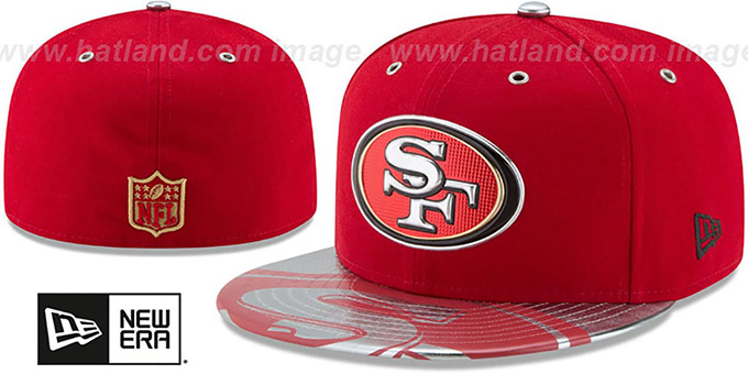 new concept a675d 15cd6 San Francisco 49ers 2017 SPOTLIGHT Fitted Hat by New Era