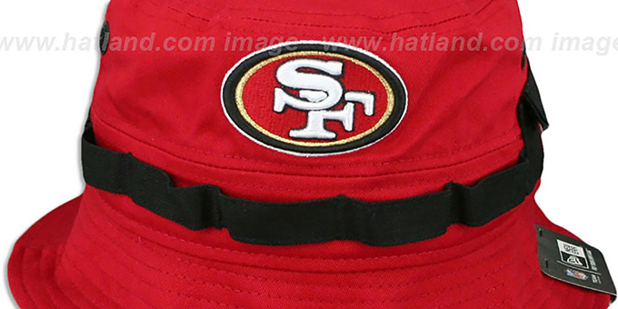 49ers 'ADVENTURE' Red Bucket Hat by New Era
