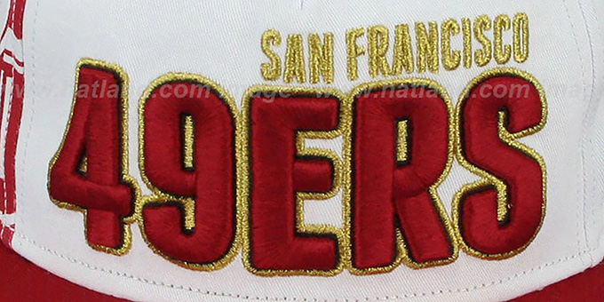 49ers 'BIGSIDE A-FRAME SNAPBACK' White-Red Hat by New Era