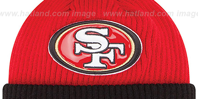 49ers 'CHILLER FILLER BEANIE' Red-Black by New Era