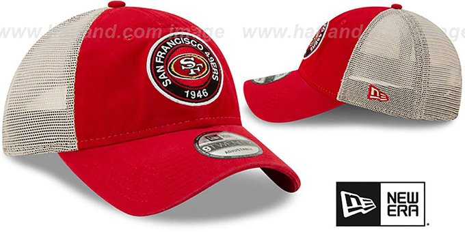 49ers 'ESTABLISHED CIRCLE TRUCKER SNAPBACK' Hat by New Era