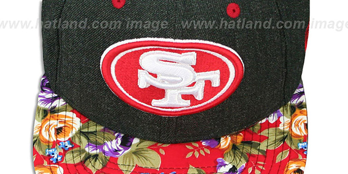 49ers 'HEATHER BLOOM SNAPBACK' Charcoal-Red Hat by New Era