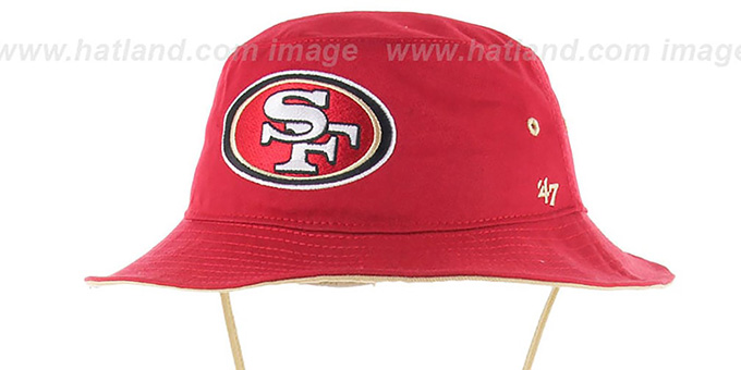 f4db7acdd4816 San Francisco 49ers KIRBY BUCKET Red Hat by Twins 47 Brand
