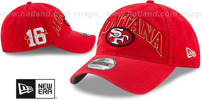 49ers 'MONTANA CLASSIC FRAME STRAPBACK' Red Hat by New Era