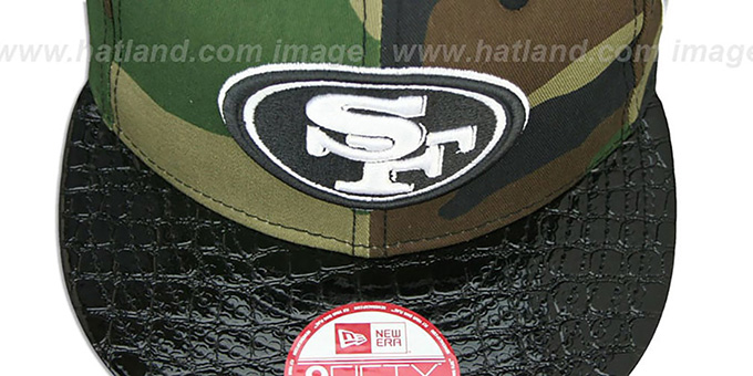 49ers 'NFL CAMO-CROC STRAPBACK' Adjustable Hat by New Era