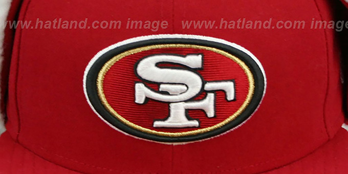 49ers 'NFL-DOGEAR' Red Fitted Hat by New Era