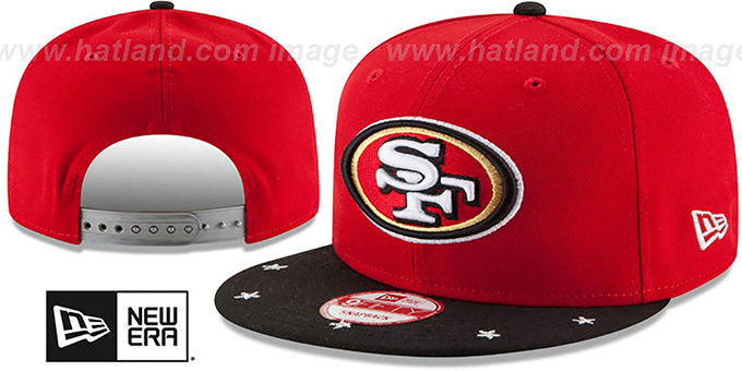 49ers 'NFL STAR-TRIM SNAPBACK' Red-Black Hat by New Era