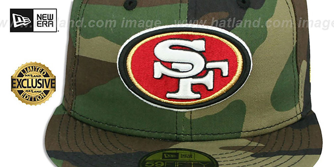 49ers 'NFL TEAM-BASIC' Army Camo Fitted Hat by New Era