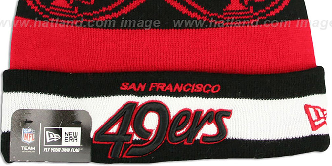 49ers 'REPEATER SCRIPT' Knit Beanie Hat by New Era