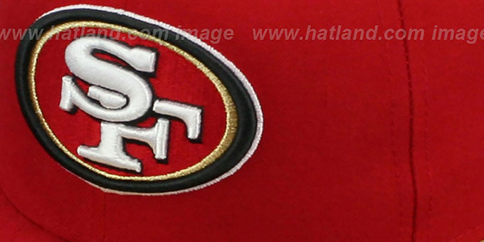 49ers 'SIDE TEAM-PATCH' Red Fitted Hat by New Era