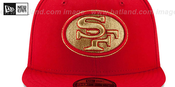 49ers 'SUPER BOWL XXIII GOLD-50' Red Fitted Hat by New Era