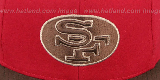 49ers 'TC-BROWN SUEDE STRAPBACK' Hat Mitchell & Ness