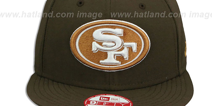 ... 49ers  TEAM-BASIC SNAPBACK  Brown-Wheat Hat by New Era ... 46aff5cc9a58