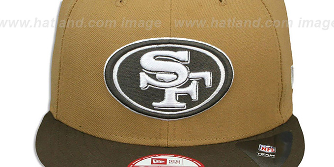 49ers 'TEAM-BASIC SNAPBACK' Wheat-Brown Hat by New Era