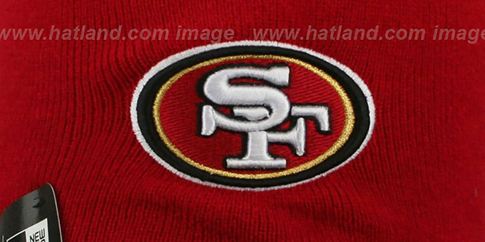 49ers 'TEAM-TONE TASSLE' Red Knit Beanie Hat by New Era
