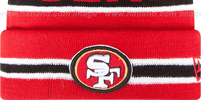 49ers 'THE-COACH' Red Knit Beanie Hat by New Era
