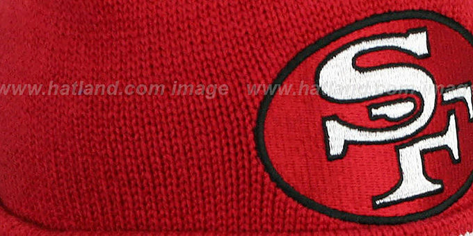 49ers 'XL-LOGO BEANIE' Burgundy by Mitchell and Ness