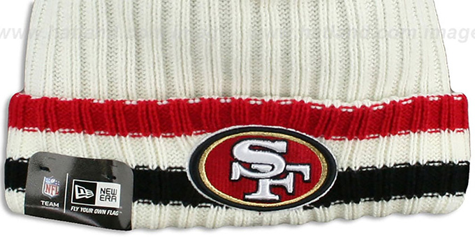 49ers 'YESTER-YEAR' Knit Beanie Hat by New Era